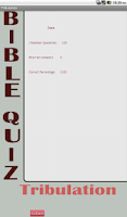 Screenshot of Tribulation Bible Quiz