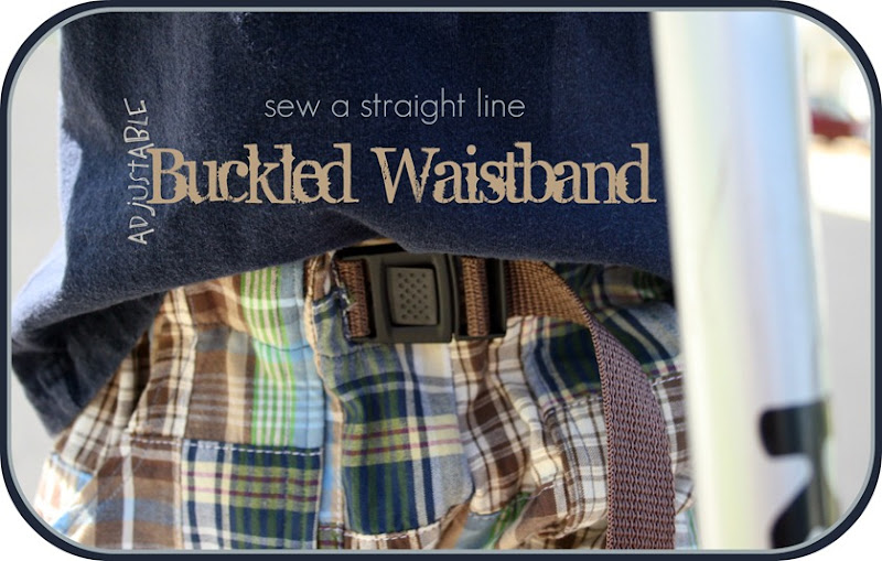 buckled waistband