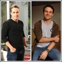 Eduardo (Rodrigo Andrade) e Hugo (Marcos Damigo) Insensato Coração