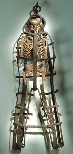 Gabbia di Milazzo (esposizione d'un soldato inglese disertore 1800)