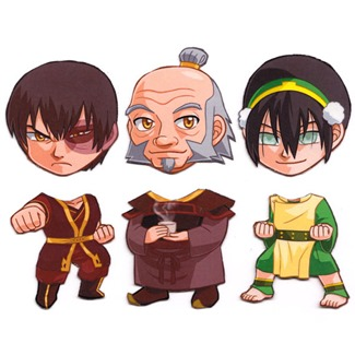 Mix and Match Magnets from Cosplay Scrample - Zuko, Iroh, & Toph