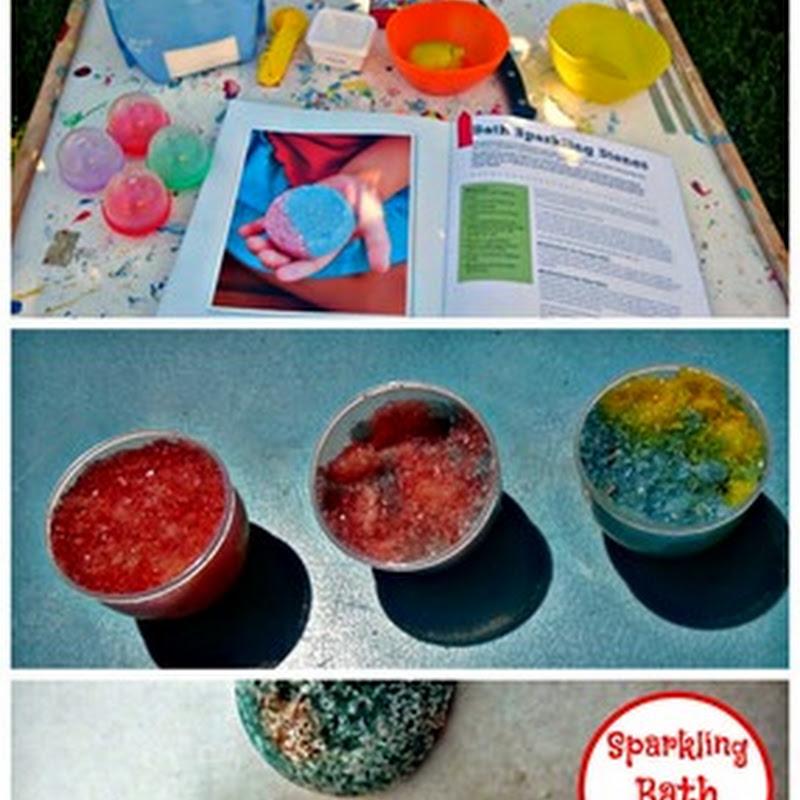DIY Sparkling Bath Stones