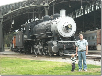 Dad and trains