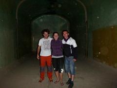 Inside the giant wine tank.