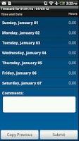 Screenshot of IQNavigator Timecards