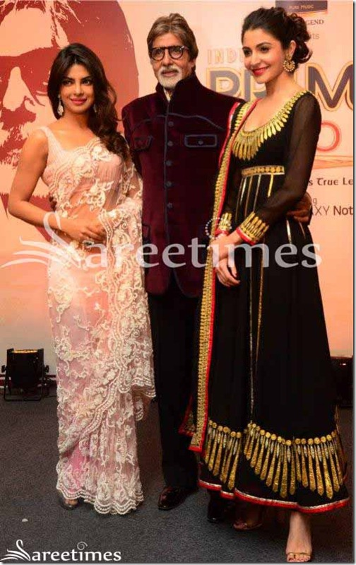 Priyanka_Chopra_Pink_Embrodery_Net_Saree