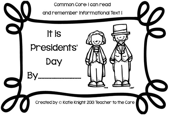 Presdient's Day mini book & graph1b