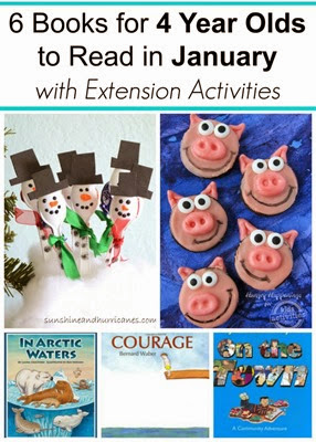 January Books for 4 Year Olds with Extension Reading Activities