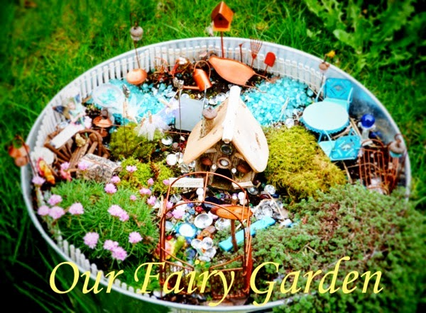 Our Fairy Garden from Blue Bells and Cockle Shells