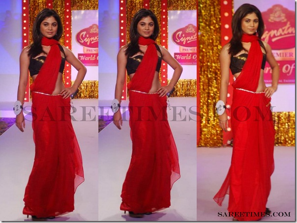 Signature_Fashion_Show_Red_Designer_Saree