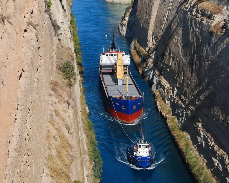 A Tight Squeeze: Corinth Canal, Greece  Amusing Planet