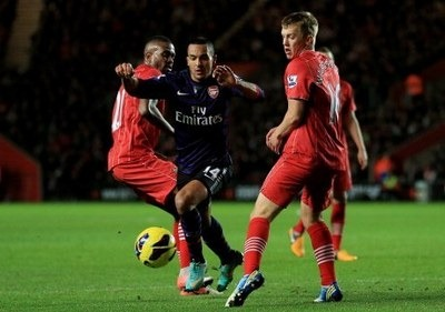 Hasil Pertandingan Southampton vs Arsenal, Liga Inggris Rabu 2 Jan 2013