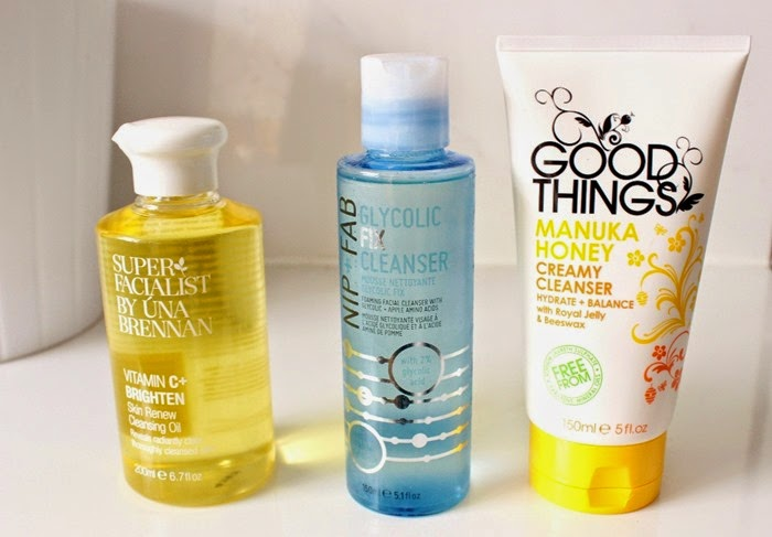 Una Brennan Vitamin C+ Brighten cleansing oil  Nip + Fab Glyolic Fix Cleanser Good Things Manuka Honey Cleanser