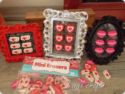 I will craft...Mini Eraser Valentine Art (5)