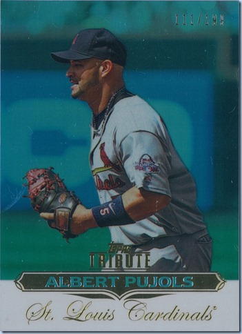 2011 Tribute Pujols 111 of 199