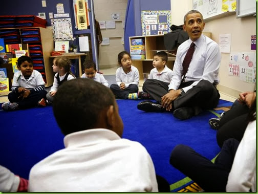 bo obama at school