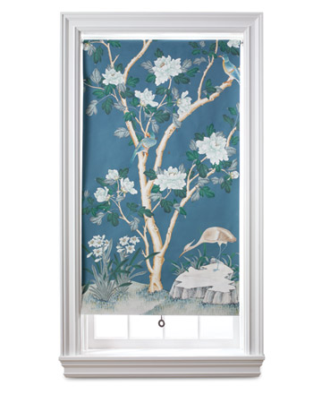 A length of wallpaper is all it takes to turn a plain roller shade into a work of art -- complete with its own frame. Showcase her special piece, a favorite vintage paper, or a remnant. (marthastewart.com)