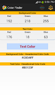 Screenshot of Color Finder