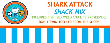 Shark Attack Snack Labels