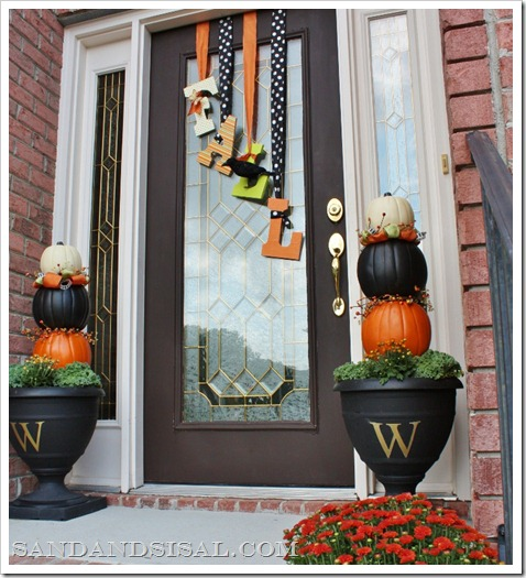  Fall Front Porch by Sand &#038; Sisal
