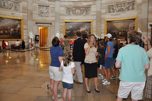 Our tour guide (Krista) describing facts about the Capitol rotunda.