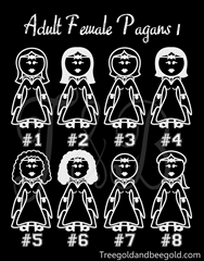 Adult Woman Pagan Stick Figures Vinyl Decals