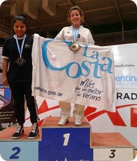 La joven Davina Lima se consagró campeona nacional de taekwondo en Mendoza