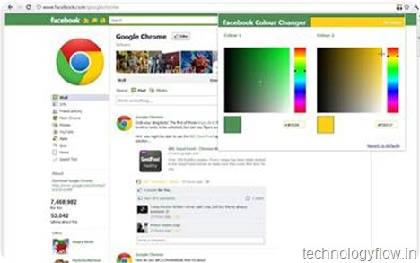 Facebook color changer chrome extension