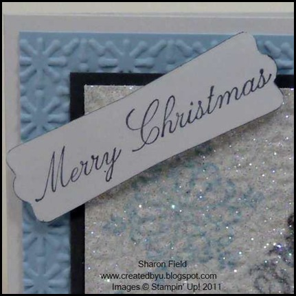 Baby, card, bear, baby_bundle, mini_catalog, holiday, Christmas, bright_hopes, big_burst, Textured_impressions, embossing, technique, tutorial, New_Faux_Flannel, dazzling diamonds, Sharon_Field, Createdbyu_Blogspot