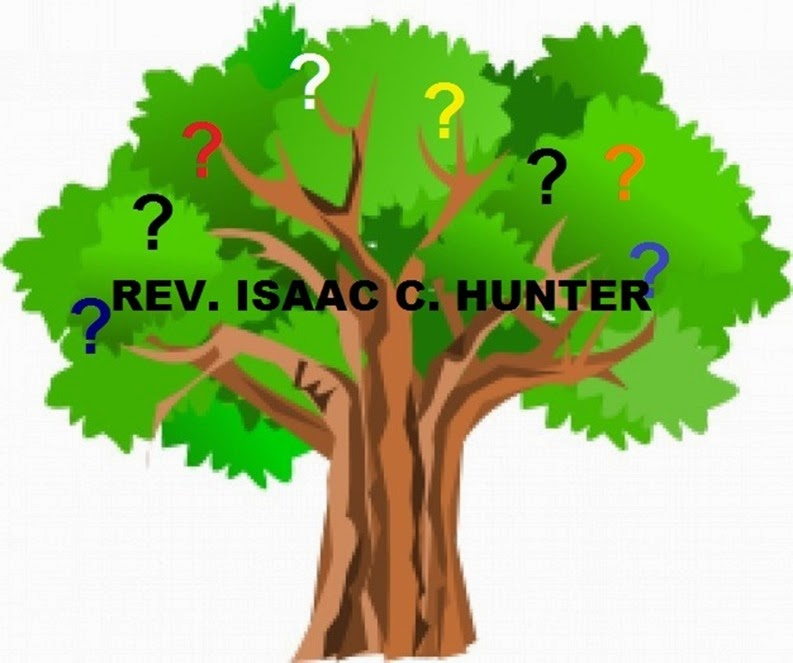 Green tree with Isaac C Hunter