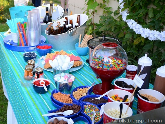 sundae and ice cream float buffet