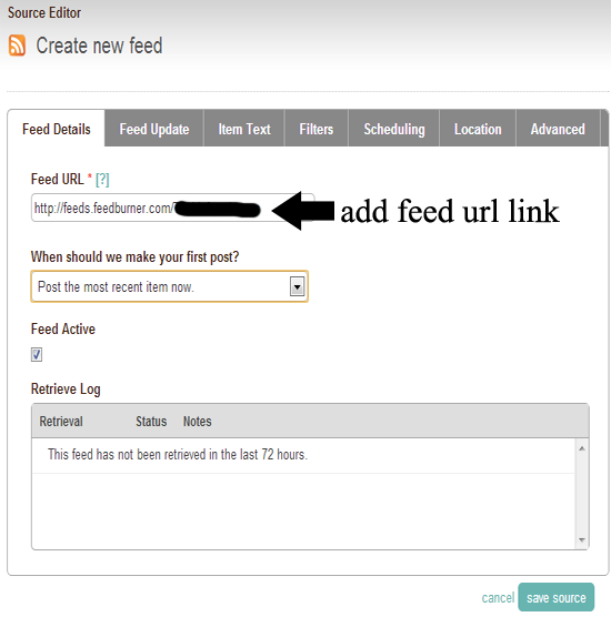 feed url link