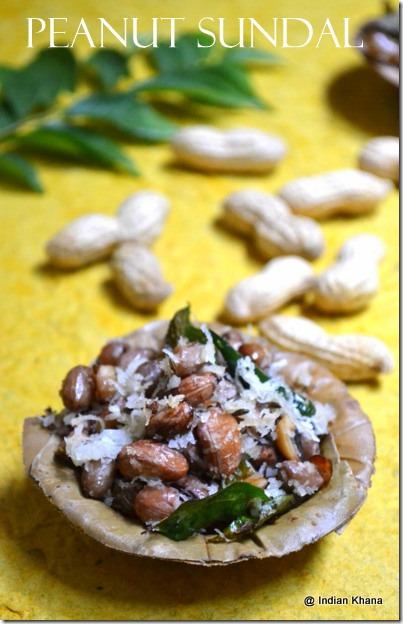 Peanut Verkadalai sundal recipe