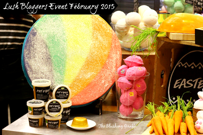 lush bloggers event february 2015 easter collection