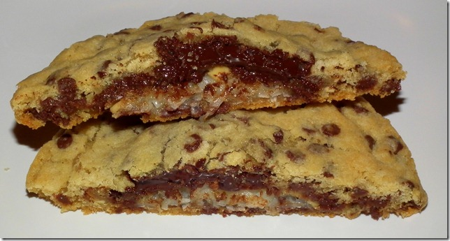 Giant Stuffed Chocolate Chip Cookies