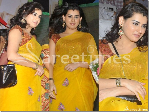 Archana_Yellow_Georgette_Saree