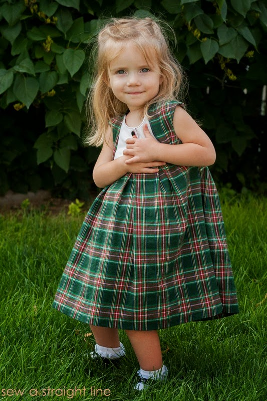 plaid fawn lilly dress Sew a Staight Line-6