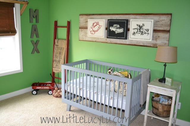 vintage baby nursery