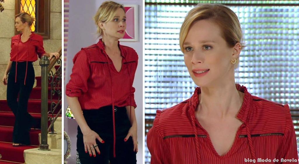 moda da novela Guerra dos Sexos - look da Juliana dia 17 de outubro de 2012