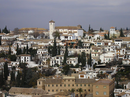Imagini Andaluzia: Albaicin, panorama din Alhambra