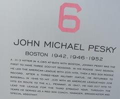 Florida 2013 retired 6 Pesky placque