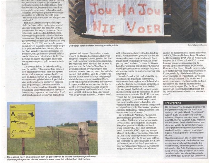 Farm Attacks Dutch agri mag Boerderij P2 16mar2012  re SA farm attacks