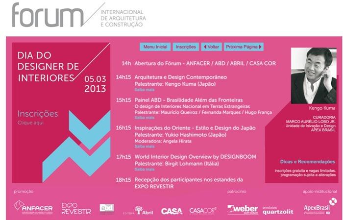 forum internacional de arquitetura e construção