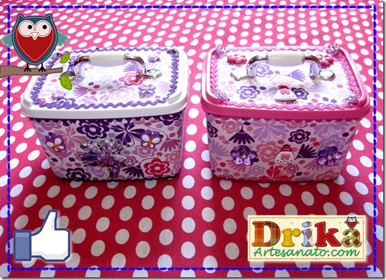 Potes de sorvetes decorados rosa