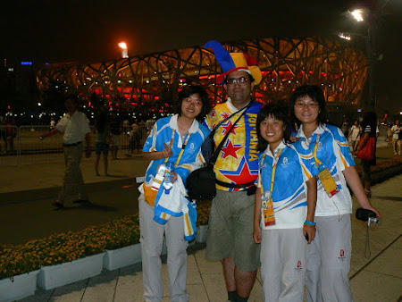 Chinese Olympic volunteers