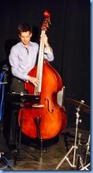 Bass player David Hodkinson giving a solo excerpt.