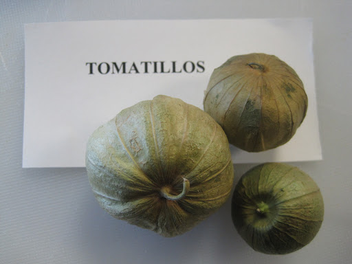 This tomato-like fruit (not really a green tomato, but related to the cape gooseberry) was brought in as a ringer!