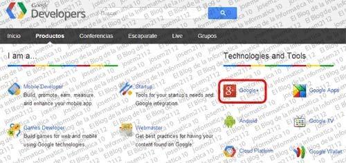 Widget de página de Google Plus - imagen productos