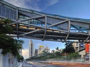 puente peatonal de acero en taiwan