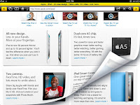 The Mango browser is a fairly simple browser which uses a dash of colour to liven up the browser interface. The controls are very similar to Safari with a few additions. Back and forward buttons as added to the ends of the navigation bar and clicking on them changes the page with a nice page curl kind of effect